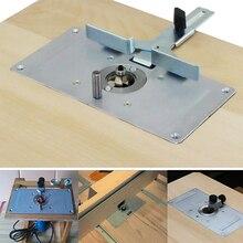 Profesjonalny Router Flip Plate płytka stołowa przewodnik do ławki do obróbki drewna Router płyta stołowa frezarka maszyna do przycinania