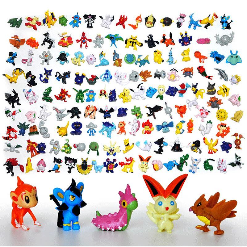 Tomy Anime 144pcs/lot Pokemon Figures 2-3cm Mini Cute Action Figure Kawaii 24pcs/bag Elf PVC Doll Kids Toys Set Gifts Model