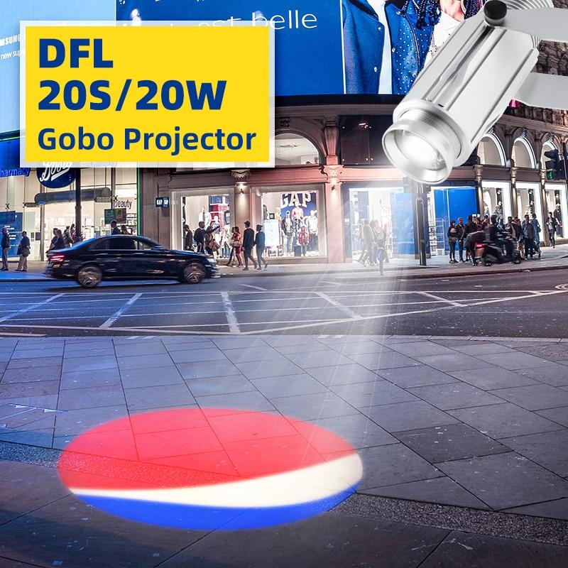 LDLG Laser Logo Projector Custom 20W Lightweight Static Image Advertising Projection Light Store Marketing Y Publicidad 90-240V