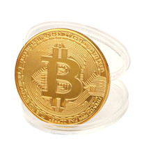 1pcs Plated Physical Bitcoins Casascius Bit Coin BTC With Case Gift Physical Metal Antique Imitation BTC Coin Art Collection New casascius bit coin bitcoin bronze physical bitcoins coin collectible gift btc coin art collection physical