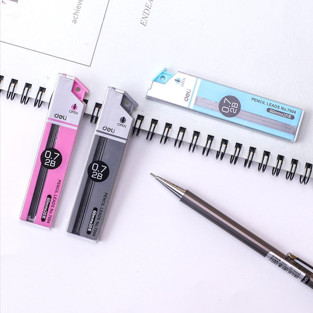 Deli Stationery 7004 Pencil Leads Premium Anti-cracking 0.7mm 2B Mechanical Pencil Refill School Office Supplies