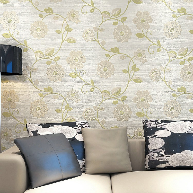 Warm Pastoral Style 3D Non-woven Wallpaper Modern Bedroom Library Restaurant Living Room Television Background Wall Simple Wallp