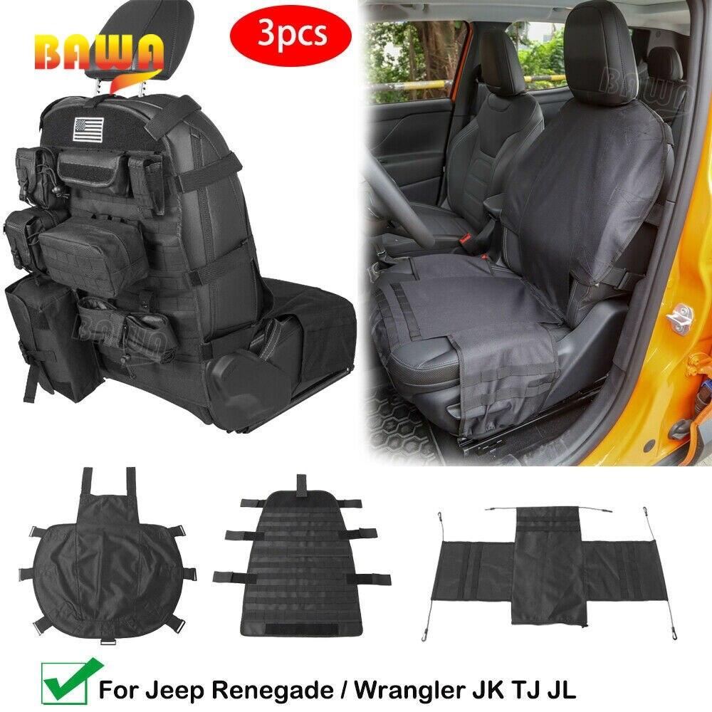 BAWA Car Seat Storage Cushion Pad Multifunctional Seat Back Storage For Jeep Automotive Universal Accessories