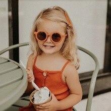 Children's Sunglasses Uv400-Eyewear Sport Shades Round Flower Oculos-De-Sol Girl's Baby