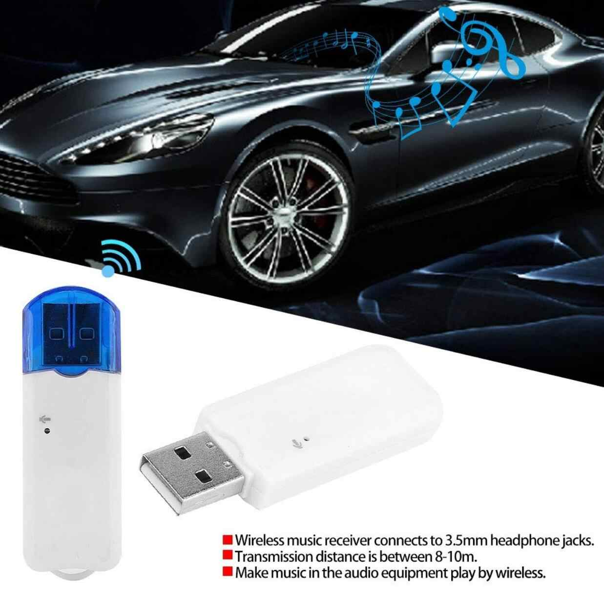 Usb Bluetooth Audio Penerima Nirkabel Adapter untuk Peugeot 3008 Hyundai I30 Skoda H7 Volkswagen Golf 4 Ford Focus 3 Toyota auris