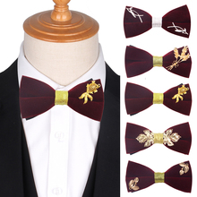 Red Bow Tie For Men Women Classic Velvet Suits Bowtie Party Wedding Bowknot Adult Handmade Ties Cravats Neck Wear