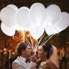 5 pçs led luz branca balão flash balão de luz da noite balão festa de casamento celebração barra desempenho balões decoração suprimentos