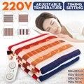 3/2/1 cama de 220V manta calefactora eléctrica alfombra termostato calentador de invierno alfombra de doble dormitorio alfombra