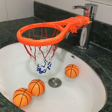 2 In 1 Bath Toy Mini Fun Basketball Hoop & Basketballs Set For Boys And Girls Basketball Game Set Water Toys In The Bathroom(China)