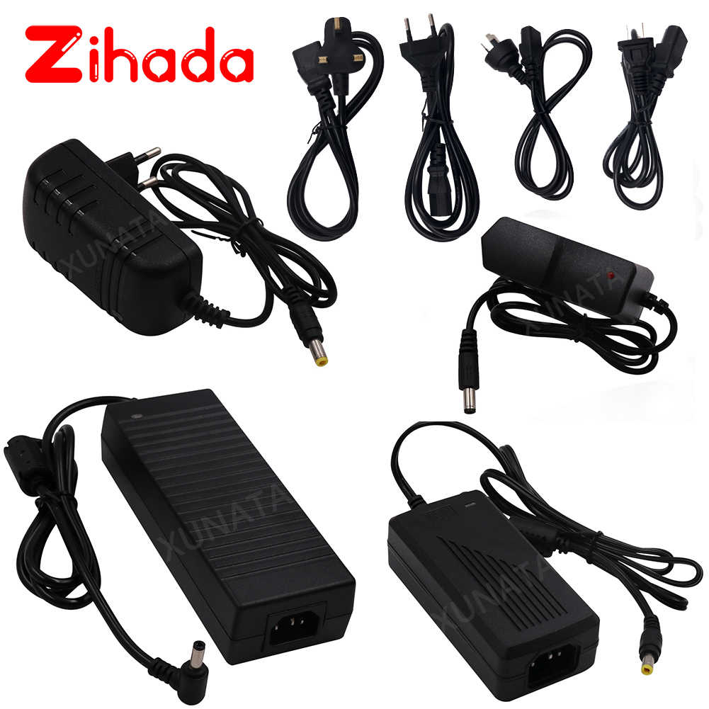 AC100-240V To DC12V 1A 2A 3A 5A 6A 8A 10A Switching Adapter For 5050 2835 5054 LED Light Strip EU US UK AU 12V Power Supply Set