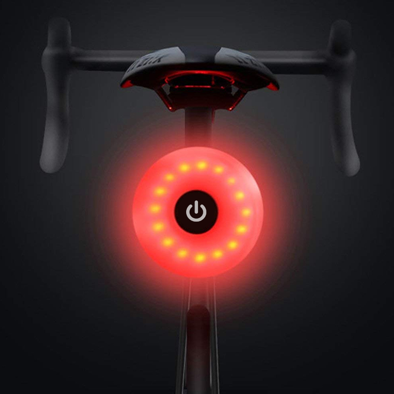 WasaFire Mini Bicycle Tail Light Bike Rear Light Taillight USB Rechargeable Flashlight Safety Warning Lights Cycling Accessory