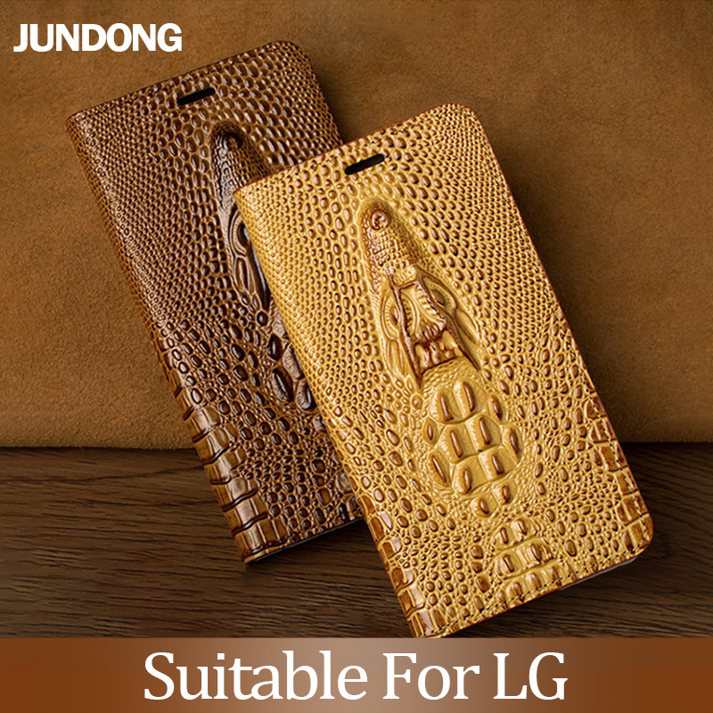 For LG V30 V40 V50 ThinQ G6 G7 Q6 Q7 K11 K4 K8 K10 2018 Srylor 3 4 Case Cowhide Luxury Dragon Head Flip Cover Texture Brief