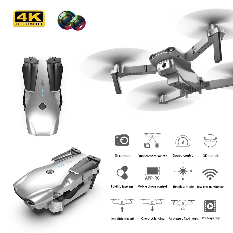 XKJ S602 RC Drone 4K HD Dual Camera Professional Aerial Photography WIFI FPV Foldable Quadcopter Height Hold DronToy 3