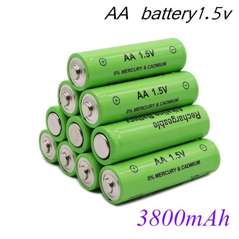 100% New AA Battery 3800mah 1.5V Alkaline AA Rechargeable Battery For Remote Control Toy Light Batery