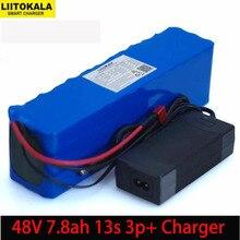 LiitoKala 48V 7.8ah 13s3p batteria ad alta potenza 18650 veicolo elettrico moto elettrica batteria fai da te protezione BMS caricabatterie 2A