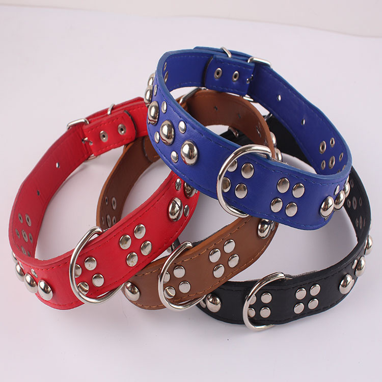 Manufacturers Direct Selling Pet Dog Neck Ring Dog Metal Mushroom Nail Neck Ring Fashion Neck Ring Pet Supplies