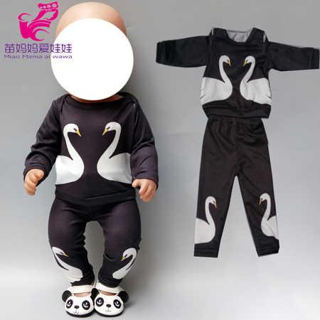 Novos Conjuntos de Roupas de Bebê Nascido Boneca Dormir 18 Polegada Americano Bonecas Conjunto de Pijama