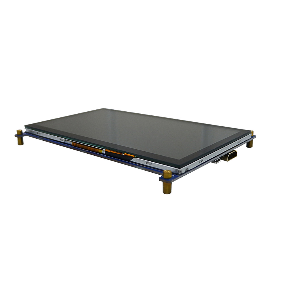7 Inch Monitor LCD Screen Module <font><b>Capacitive</b></font> 1024x600 Clear Metal HDMI Touch Screen Portable Durable <font><b>Display</b></font> For <font><b>Raspberry</b></font> <font><b>Pi</b></font> IPS image