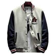 Мужская бейсбольная куртка, однотонная Повседневная куртка бомбер с рукавами в рубчик, брендовая одежда с флисовой подкладкой, 2020