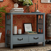 Kitchen Furnitures Console Sofa Table Kitchen Cabinet With Two Bottom Drawers Farmhouse Narrow Sofa Table Entryway Container