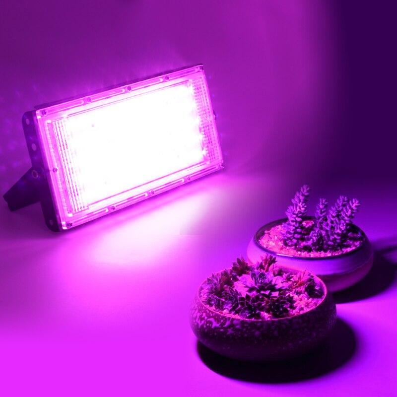 50W LED Plant Grow Light Lamp AC 220V Full Spectrum LED Plant Floodlight Greenhouse Plant Hydroponic Plant Spotlight 6