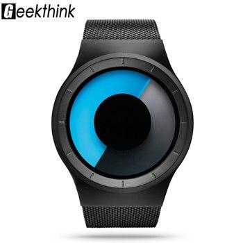 Creative Quartz Watches Men Top Luxury Brand Casual Stainless steel Mesh Band Unisex Watch Clock Male female Gentleman gift 4