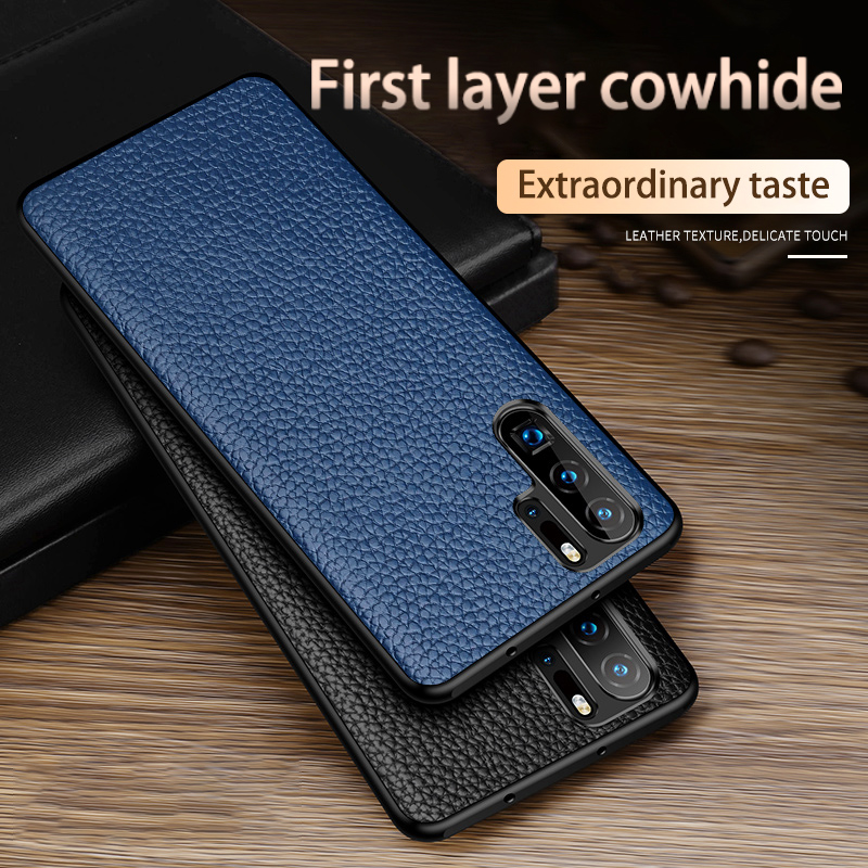 Phone <font><b>Case</b></font> For Huawei P40 P30 P20 Mate 30 Pro 20 Lite 10 9 Cowhide Litchi Texture Genuine Leather For <font><b>Honor</b></font> 10i <font><b>8X</b></font> <font><b>Max</b></font> 9X Cover image
