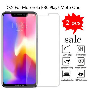 2PCS Glass For Motorola Moto One Screen Protector Tempered Glass For Motorola P30 Play XT1941-4 Protective Film image