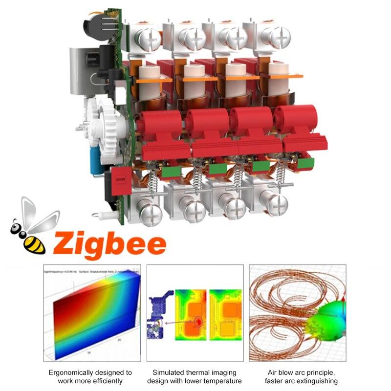 3 pces smart disjuntor 1-4p 10a-125a 220v
