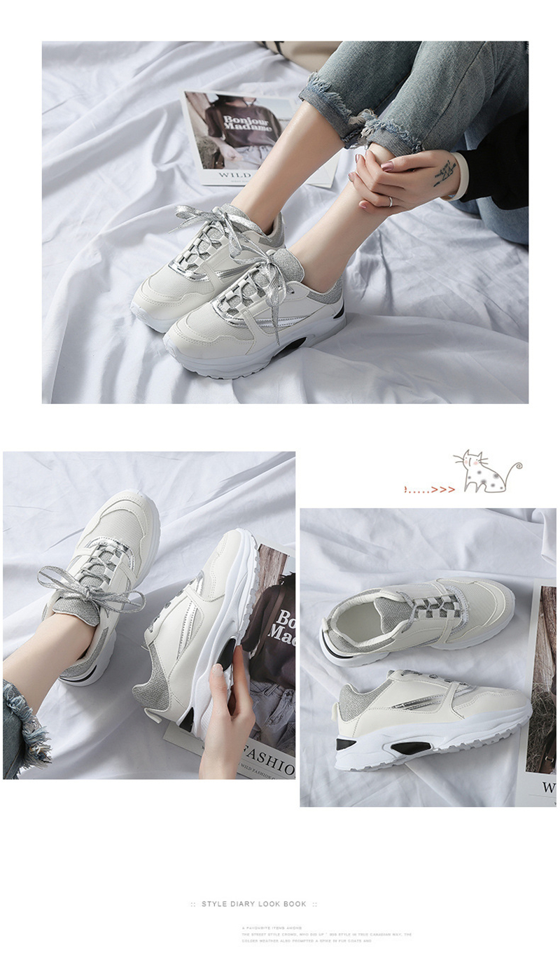 Spring Summer New Fashion Women's Vulcanize Shoes Casual Platform Increased Women Shoes Sneakers Casual Shoes Women VT611 (5)