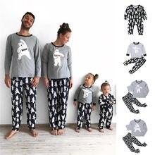 Ensemble pyjama assorti pour la famille, vêtements de nuit, motif ours, dessin animé, pour enfants, nouvelle collection