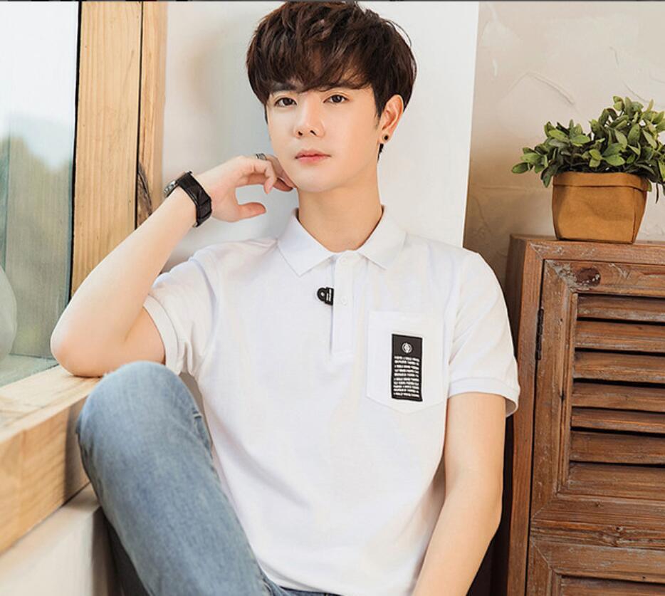 2019 New SB87 Fashion Classic Men   Polos   Shirt Summer Short Sleeve   Polos   Shirt Mens Solid Shirt Cotton Shirt