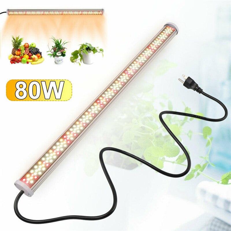 O diodo emissor de luz do espectro completo cresce a luz 80 w tubo conduziu as lâmpadas 85 v-265 v de phyto crescem as luzes hidropônicas do crescimento das plantas da barra da lâmpada do diodo emissor de luz vermelho branco morno