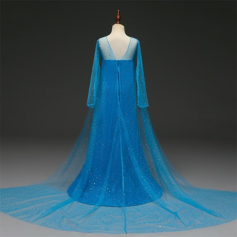 H29e9608aa7b442dda6ad0f87312fb51fO Cosplay Queen Elsa Dresses Elsa Elza Costumes Princess Anna Dress for Girls Party Vestidos Fantasia Kids Girls Clothing Elsa Set