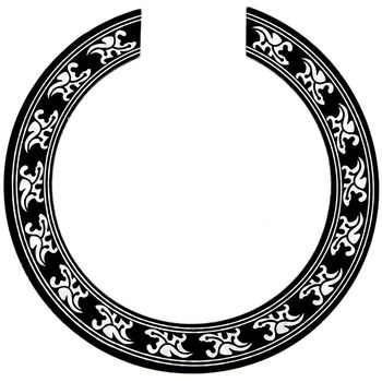 New Hot Sound hole Rose Decal Sticker for Acoustic Classical Guitar Parts Black+Silver hot 5x sound hole pickup for acoustic guitar with tone volume control