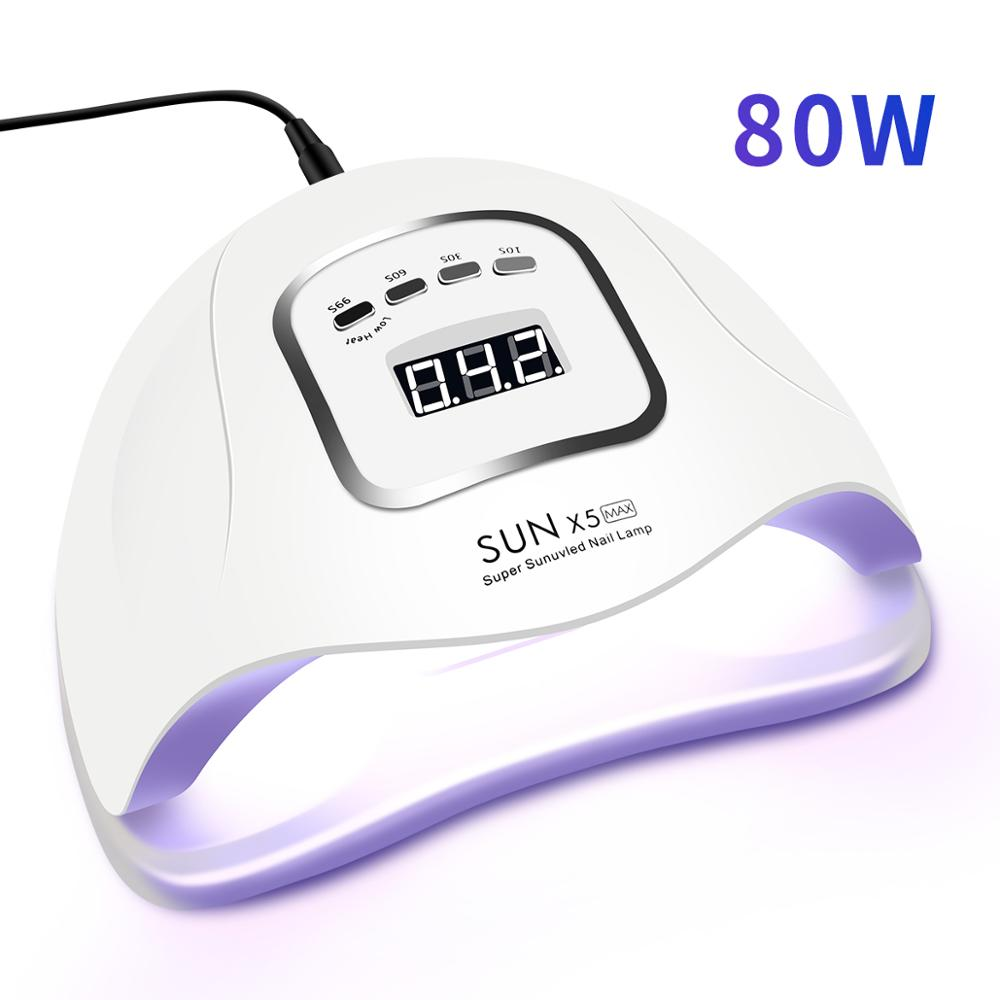80W/72W SUNX5 Max UV LED Lamp For Nails Dryer Ice Lamp For Manicure Gel Nail Lamp Drying Lamp For Gel Varnish