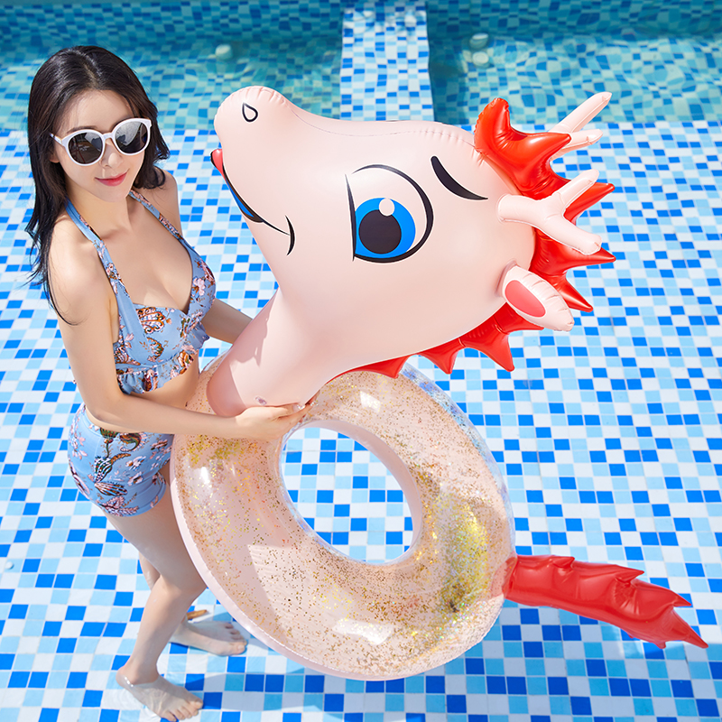 2020 Newest Giant Red Dragon Inflatable Pool Float For Adult Kids Dinosaur T-rex Swimming Ring Water Mattress Beach Party Toys