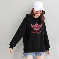 strange things hoodie black hoodies womens sweat femme oversize ladies hood sweatshirts fall clothing cotton woman hoody