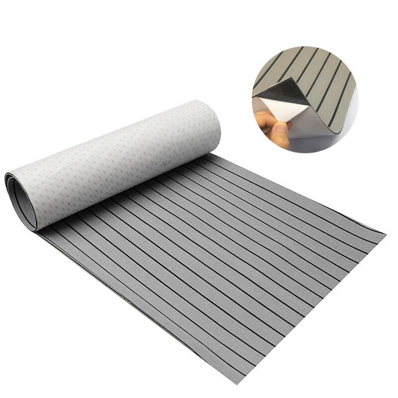 EVA Foam Faux Teak Decking Sheet Yacht Marine Carpet Flooring Mat Non Skid Self Adhesive Sea Deck Boat Accessories
