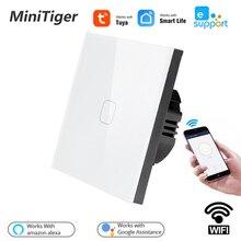 Standard UE Tuya/Vita Intelligente/ewelink 1/2/3 Gang 1 Way WiFi Chiaro Della Parete di Tocco Interruttore per google Casa Amazon Alexa Controllo Vocale