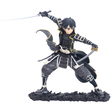 japanese anime Sword Art Online Kirito PVC action figure toys black dress Kirito figure Decoration Collectible model toys gift стоимость