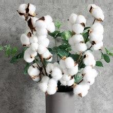 Fleurs d'eucalyptus séchées en coton naturel, 1 pièce, branches artificielles, fausses plantes, bricolage, couronne artisanale, décoration rustique de maison pour mariage