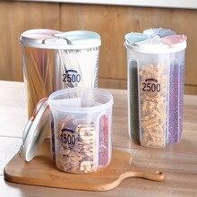 2/3/4 сетки прозрачная пластиковая емкость для хранения коробка Кухня Крупы разное зерна сухой сушеный контейнер для пищевых продуктов контейнер закуски чехол