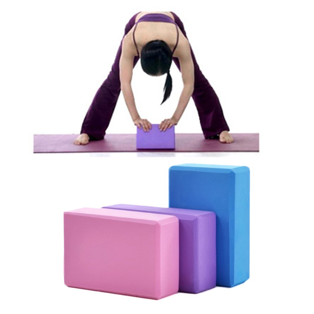 Gym Fitness EVA Yoga Block Colorful Foam Block Brick For Crossfit Exercise Workout Training Bodybuilding Equipment