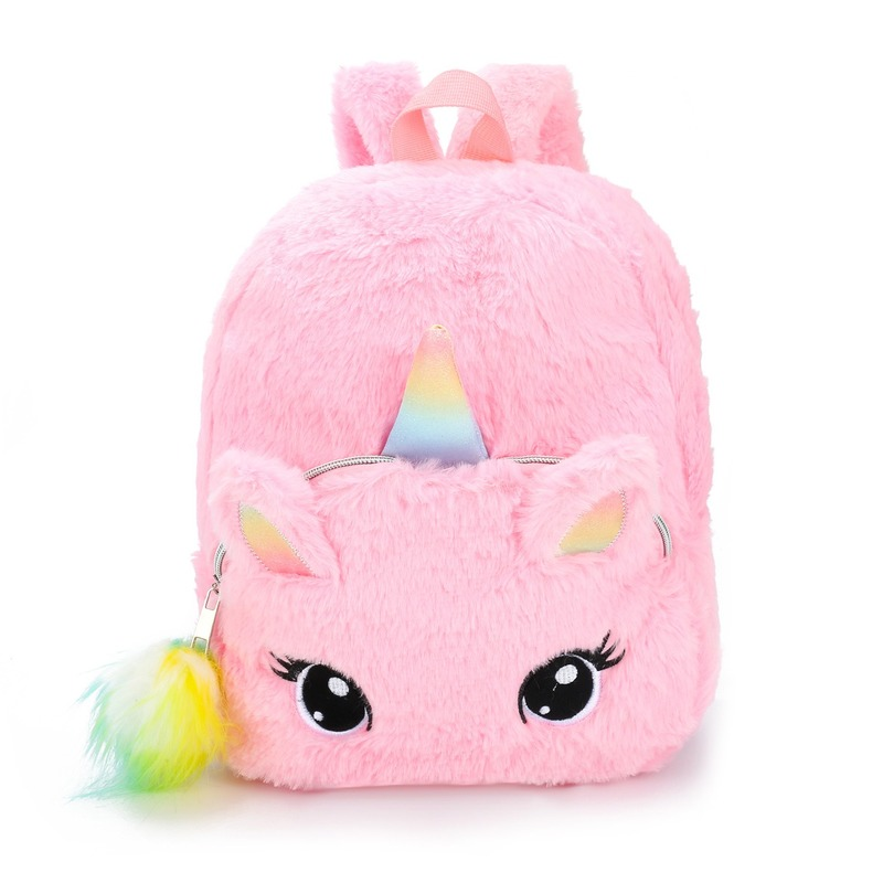 3D Cartoon Unicorn Plush School Bags For Girls Kids Unicorn Shoulder Bag Light 3-5 Years Mochila Infantil 2019 Kindergarten Bag