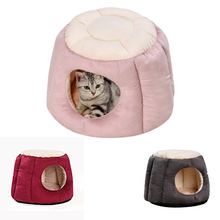 Winter Warm Cat Cave House Pet Nest Dog Lovely Soft Suitable Cushion Bed High Quality Products