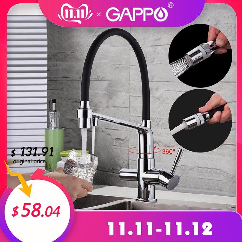 Gappo torneira da cozinha com água filtrada torneira da pia da cozinha guindaste de água torneiras misturador água guindaste