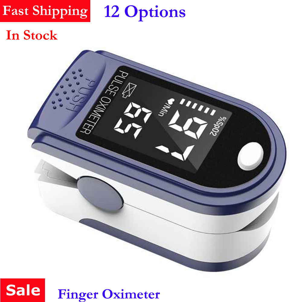 Portable Fingertip Oximeter LED Display Blood Oxygen Pulse Rate Monitor For Family Health Care Oximeter Monitor Fingertip Clip