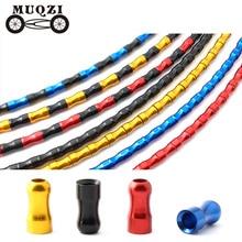 MUQZI 20pcs Bike Shift Brake Line Cable Universal Protection Shell Ultralight Aluminum Alloy Catheter Tube Cap MTB Road Bicycle