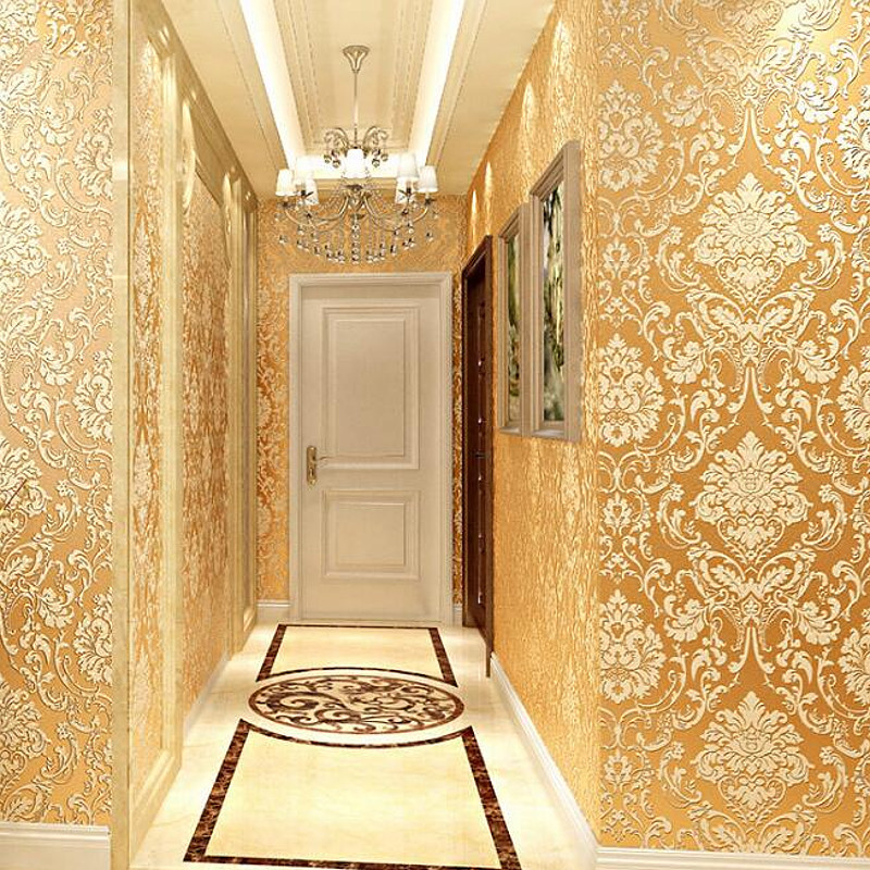 Modern Damask Wallpaper Luxury Wall Paper Embossed Textured 3D Wall Covering For Bedroom Living Room Home Decor